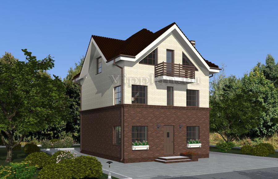 средство фото двухэтажный дом мансард коттедж особняки проектируют